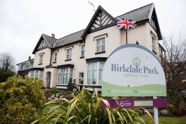 The Birkdale Care Home in Southport has allowed multiple visitors and kept residents from feeling isolated by bringing in entertainers - all without suffering an outbreak of Covid (Credit: Caters)