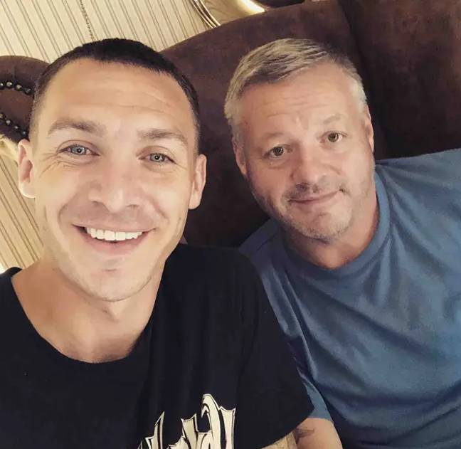 Mick Norcross and his son Kirk who also appeared on TOWIE (Credit: Kirk Norcross/Mick Norcross/Instagram)