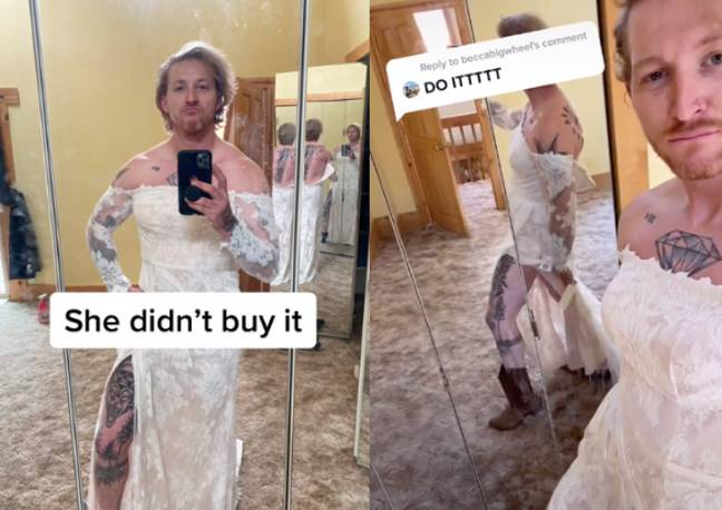 The woman didn't buy the dress in the end (Credit: TikTok/@tacobellchipotle)