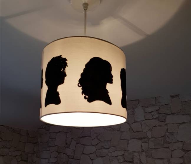 She painted on the lampshade with acrylic paint (Credit: Lisa Barber)
