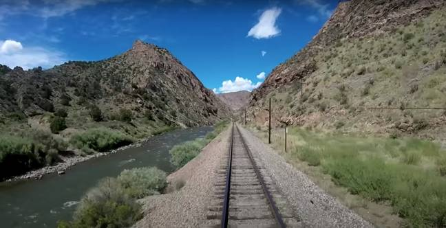 This 2-hour scenic train ride is the most famed portion of the former Denver and Rio Grande Western Railroad (Credit: YouTube)