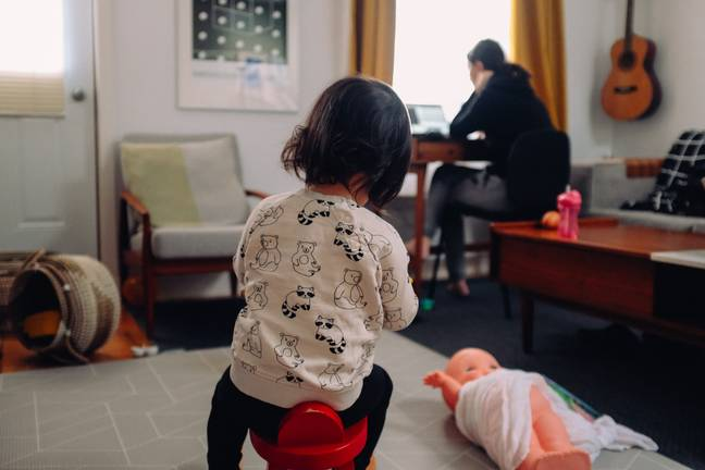 Mums have had to do most of the domestic and childcare work during lockdown, research suggests (Credit: Unsplash)