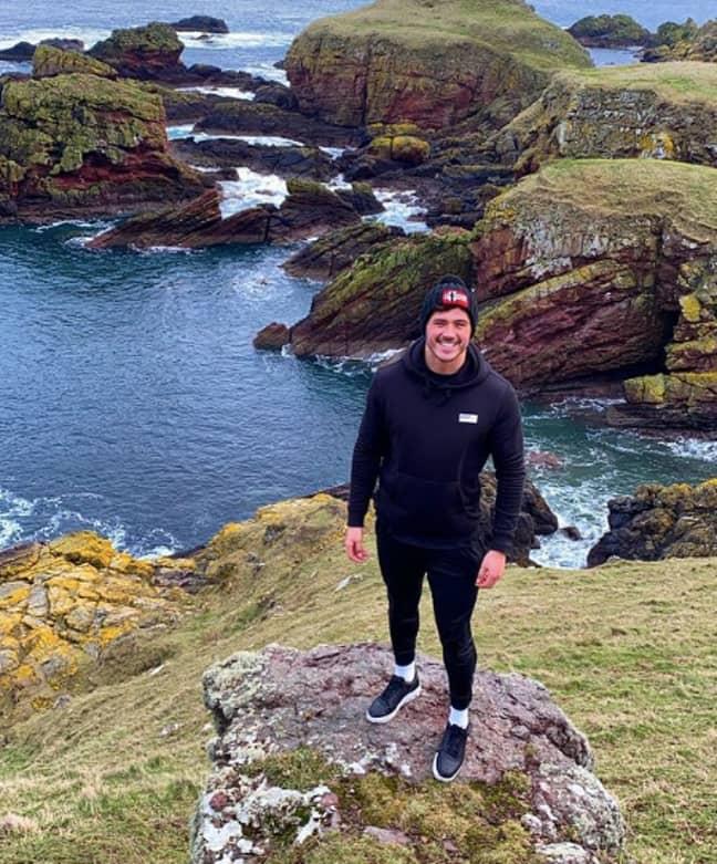 Brad is actually a keen hiker (Credit: Brad McClelland/Instagram)