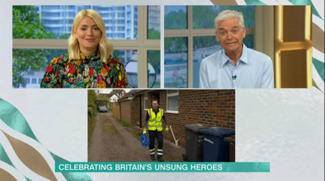 The segment showed Phillip Schofield and Holly Willoughby following the rounds of milkman Darren Barnes in Guildford (Credit: ITV / This Morning)