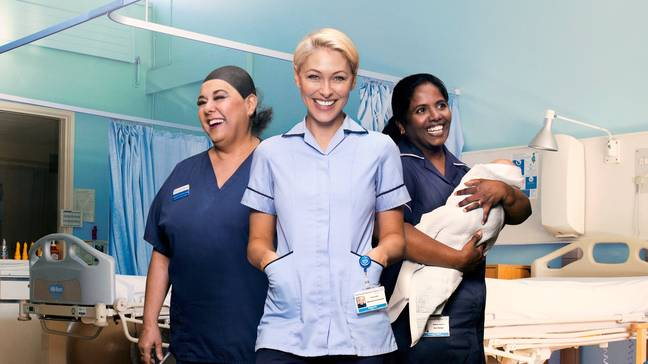 Emma Willis is a fully qualified maternity care assistant (Credit: UKTV)