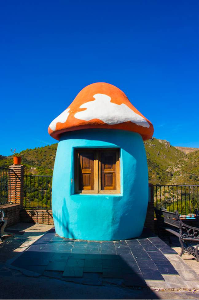 There's even mushroom huts owing to the blue character's homes (Credit: Shutterstock)