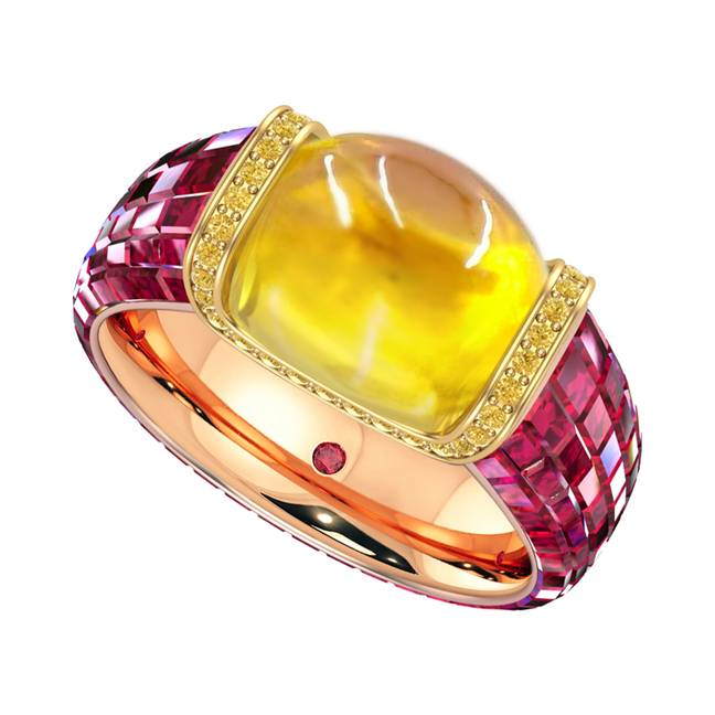 This diamond encrusted Haribo-inspired ring is really sweet (Credit: Taylor & Hart)