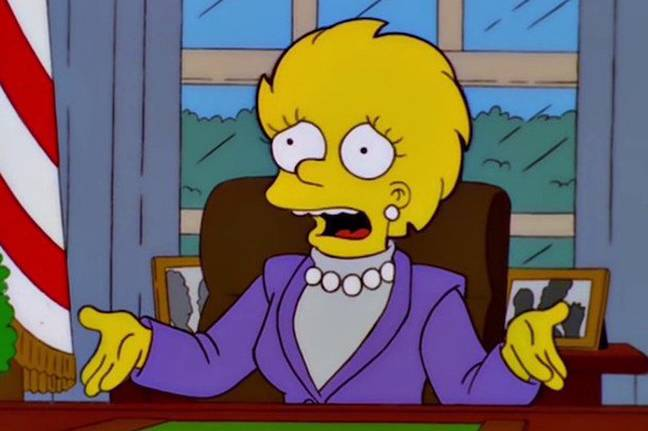 Lisa Simpson becomes the first female President in The Simpsons (Credit: Fox)