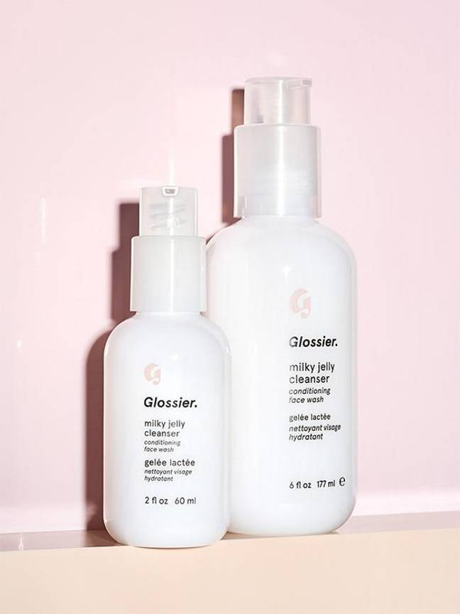 The US brand's Milky Jelly Cleanser costs £15 for 177ml. Credit: Glossier