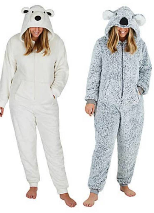 You can also get the onesie in a koala and polar bear design (Credit: Dunelm)
