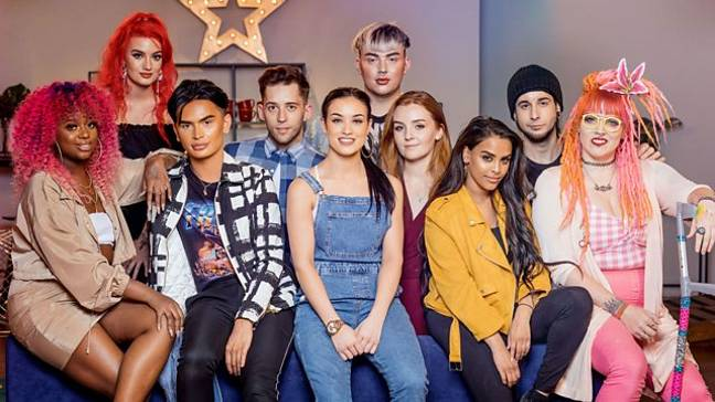 Series 1's contestants, where Ellis Hill (sixth from left) was crowned the winner (Credit: BBC)