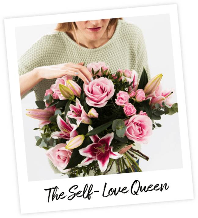 The Self Love Queen bouquet is bold, bright and takes its cue from Lizzo with pink lillies and voluptuous roses (Credit: Interflora)