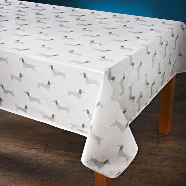 The sausage dog tablecloth (Credit: B&M)