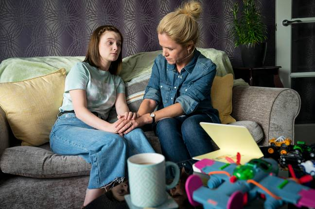 Viewers meet Theresa - whose teenage daughter Orla falls pregnant (Credit: BBC)