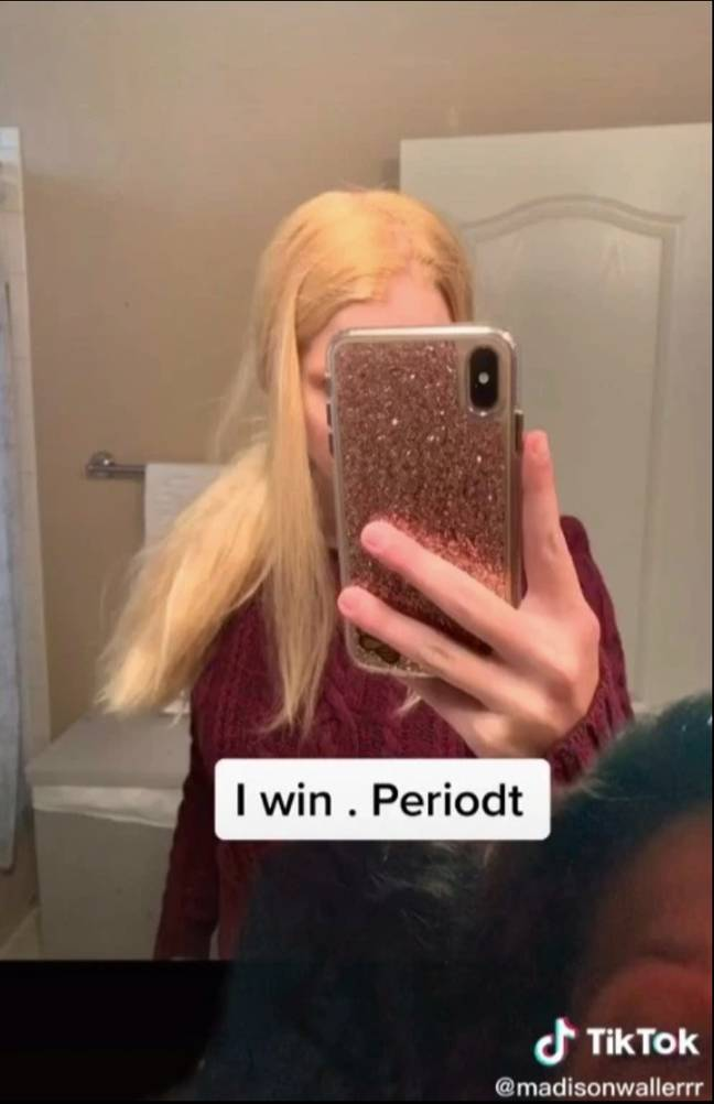 Madison was left with bleached yellow-tinted hair (Credit: Madisonwallerrr/TikTok)