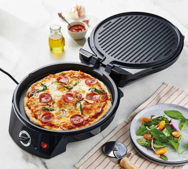 Aldi's Ambiano Pizza Maker, £29.99, is available to order today with a despatch date of 28th June (Credit: Aldi)