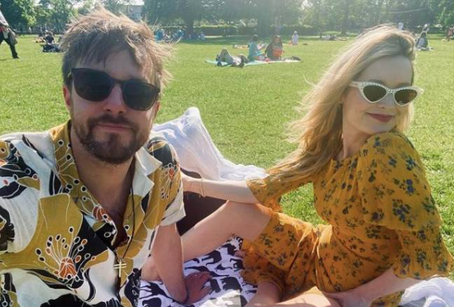 The family could be seen in a park enjoying the sunny weather this week (Credit: Laura Whitmore/Instagram)