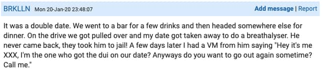 This double date didn't go to plan (Credit: Mumsnet)