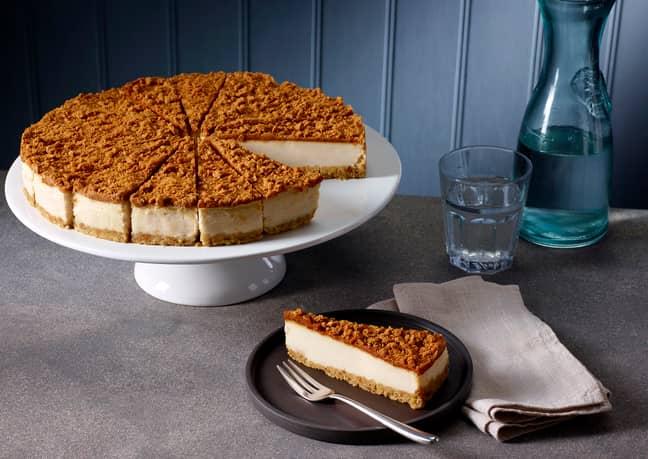 Back by popular demand is the Vegan Lotus Biscoff Cheezecake (Credit: Costa)