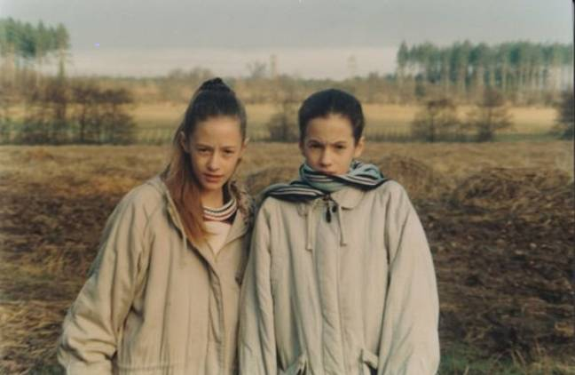 The family released pictures of Caroline Flack as a young girl with her twin sister Jody (Credit: PA/Flack Family)