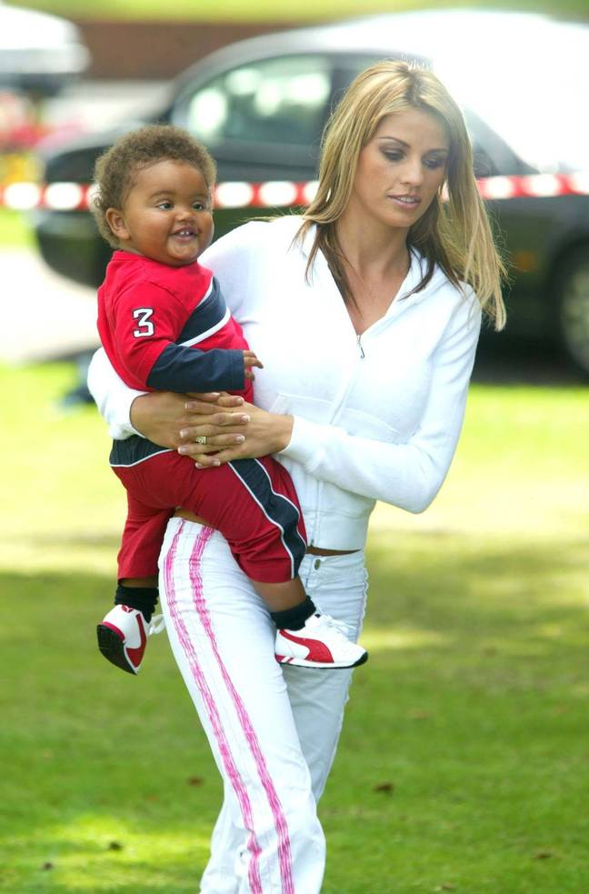Katie with baby Harvey in 2003 (Credit: PA)