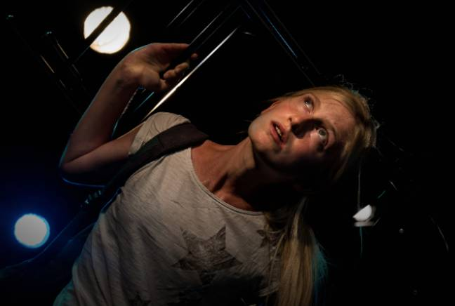 Nell is now starring in Tramshed play, 'NoMad,' about her experiences (Credit: Alessandra Davison)