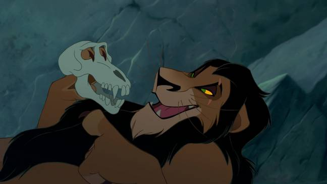 Scar holds a skull later in the film which some people believe belonged to Mufasa (Credit: Disney)