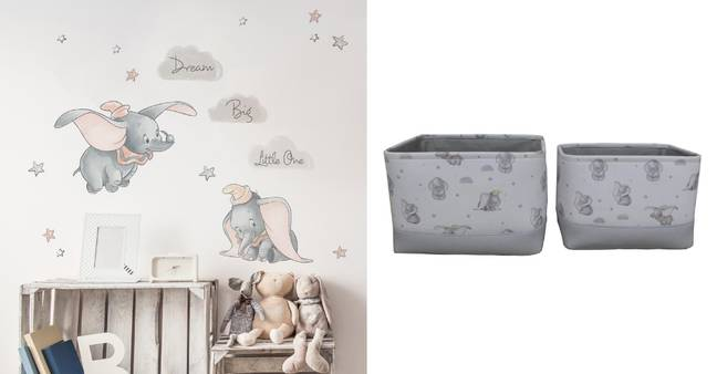 Wall Stickers (£11.20 per roll) and Soft Storage Boxes (£12) (Credit: Dunelm)