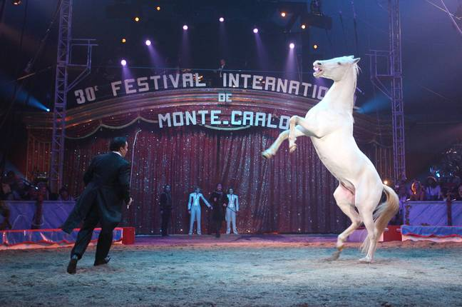 Artists perform at the opening of the 30th Monte Carlo Circus Festival in Monaco. Credit: PA