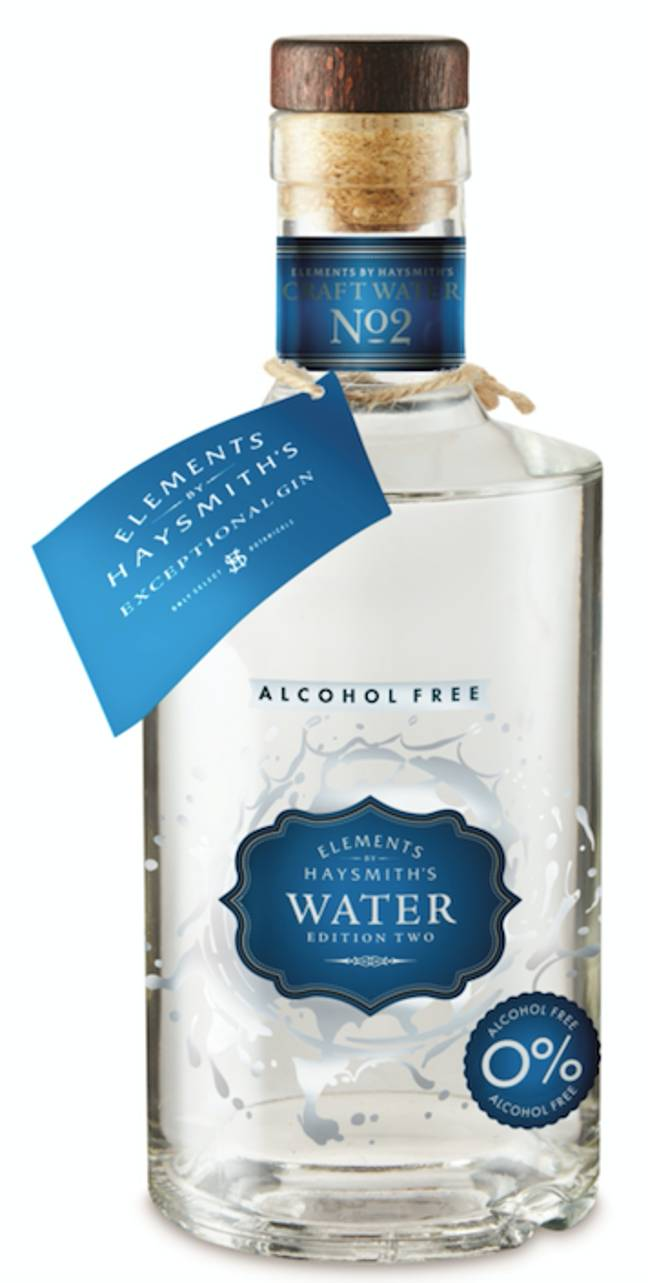 The 'Water' gin is non-alcoholic (Credit: Aldi)