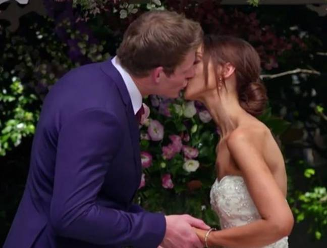 Lizzie and Seb said their vows on the show (Credit: Channel Nine)
