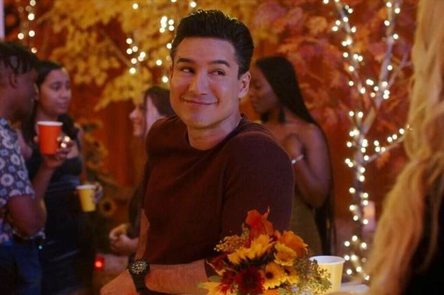 Mario Lopez's Slater is back in the reboot - this time as a teacher (Credit: NBC)