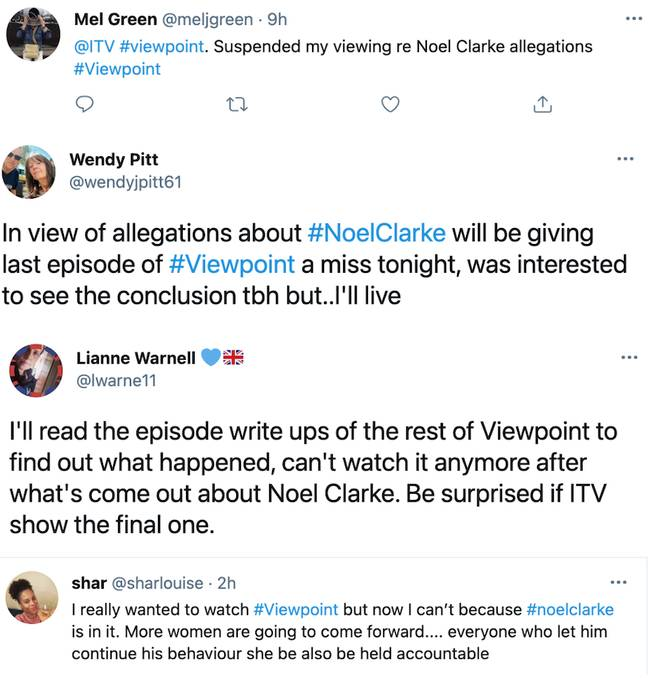 Viewers said they are planning to boycott Friday's Viewpoint episode (Credit: Twitter)