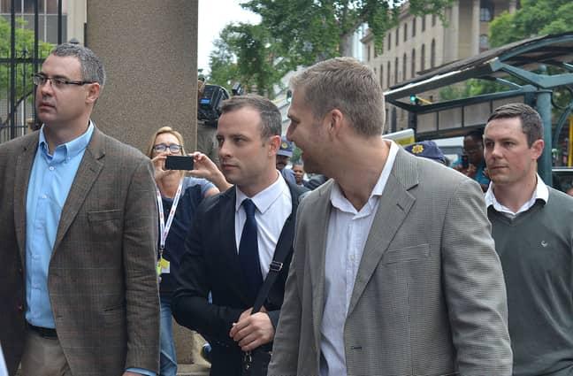 Oscar Pistorius heading to court (Credit: PA)