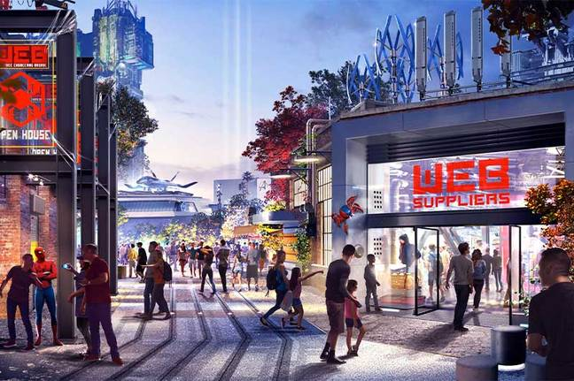 Specific details about what visitors may see at the Avengers Campus are being kept under wraps  (Credit: Disney/Marvel)