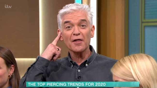 Co-host Phillip Schofield stood by in support (Credit: ITV)