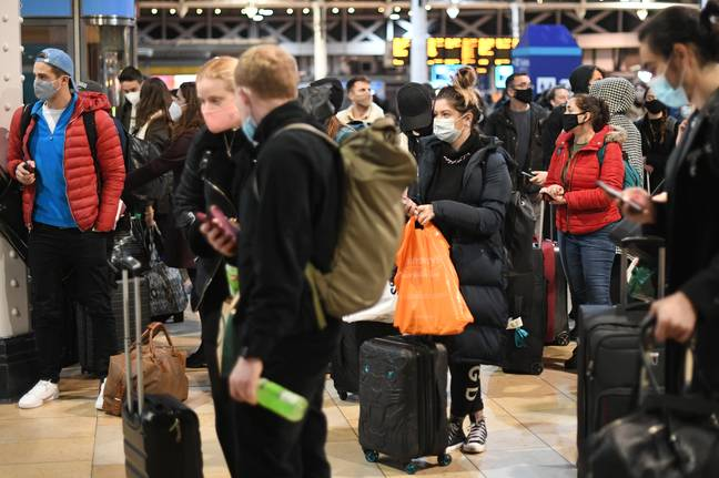 Many fled London at the news of Tier 4 (Credit: PA Images)