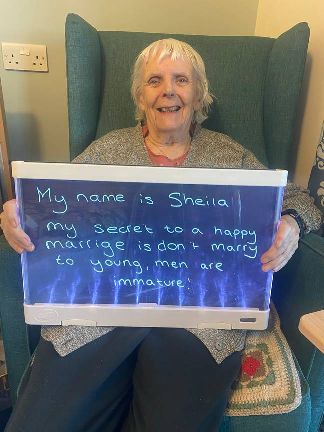 Sheila has a lot of experience so she knows what she's talking about (Credit: Colne View care home)