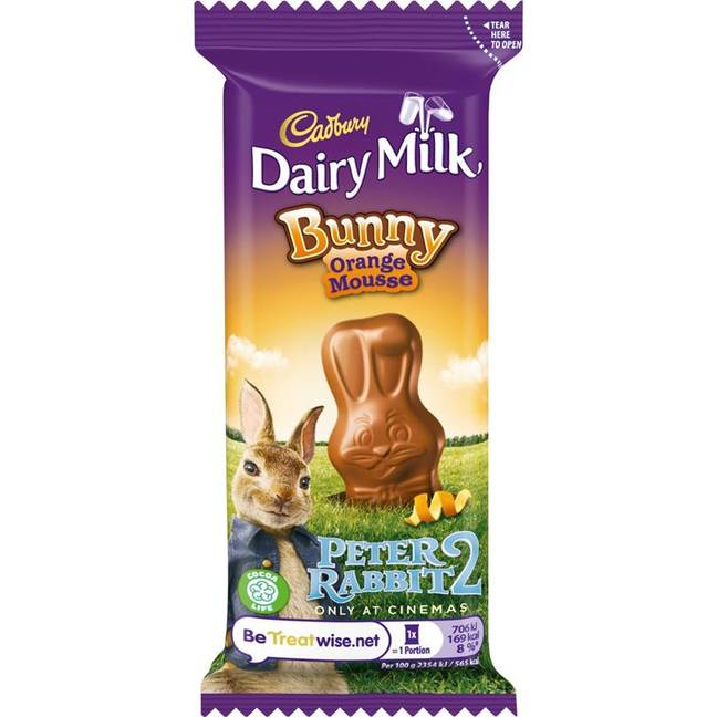 The Dairy Milk bunny bar will come in an orange flavour too this year. (Credit: Cadbury)