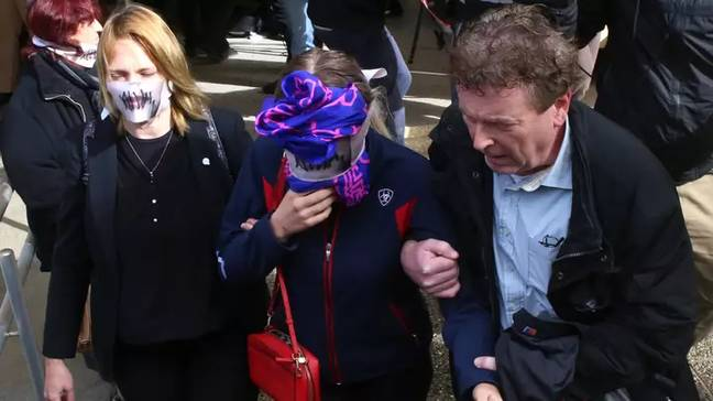 The woman was forced to hide her identity under media scrutiny (Credit: PA)