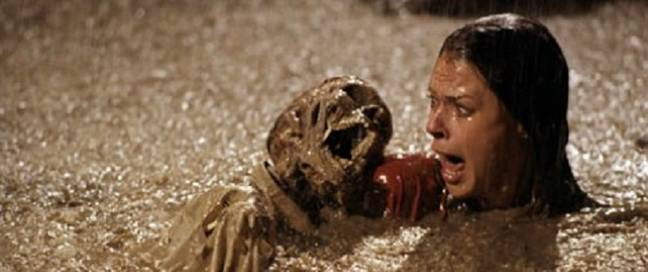 JoBeth Williams filmed a swimming pool scene where real skeletons were used (Credit: MGM)