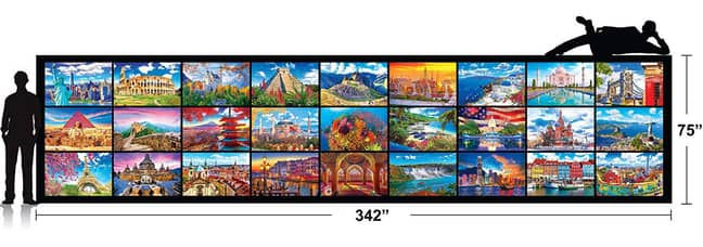 The puzzle is a sprawling 16.47 square metres and weighs a hefty 18.5 kilograms (Credit: Kodak)