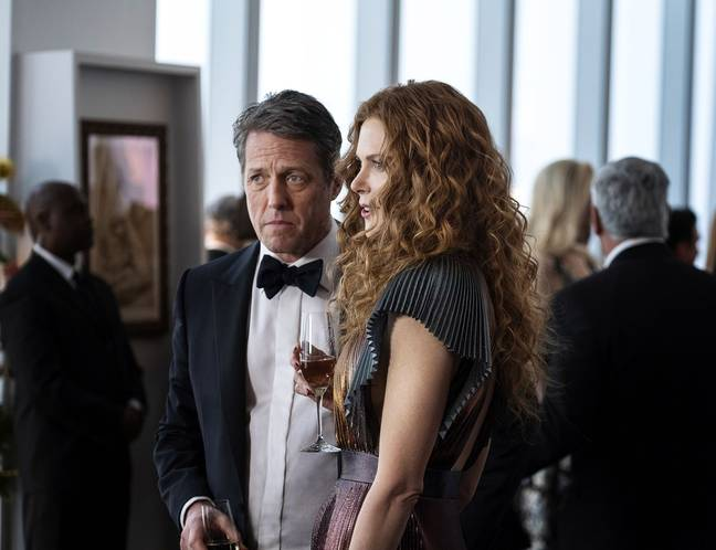 Nicole Kidman and Hugh Grant star in the gripping drama (Credit: HBO)