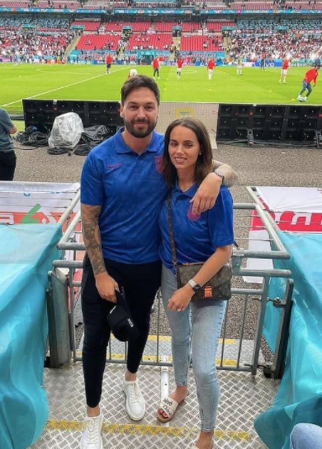 Mario and Becky were both at Wembley (Credit: Mario Falcone/Instagram)