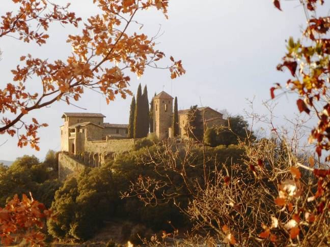 Castle Llaés sits atop a hill in the centre of Ripollès (Credit: Airbnb)