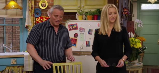 Matt LeBlanc reveals Courteney used to keep her lines on the table to help her remember them (Credit: HBO Max)
