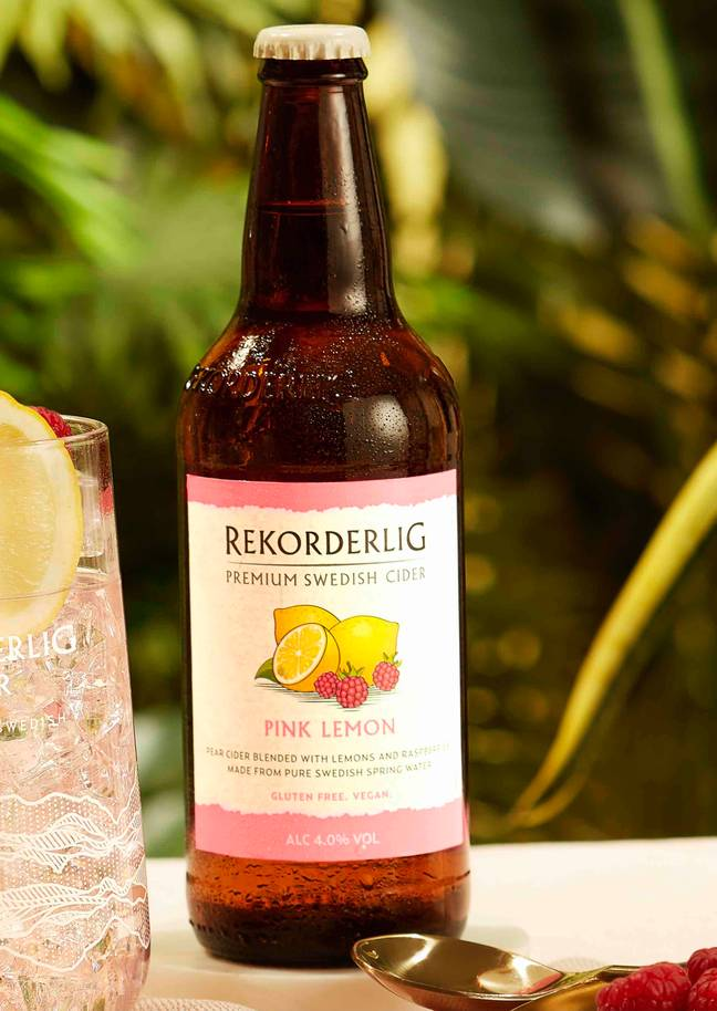 The pink lemon cider can be purchased right now (Credit: Rekorderlig)