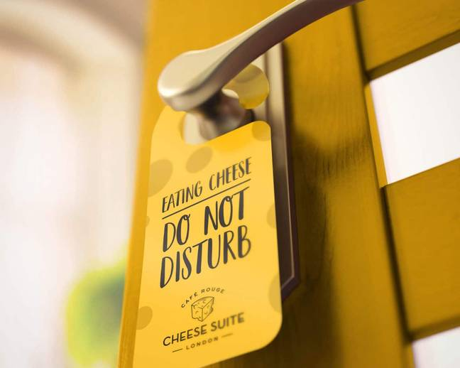 The suite will feature cheese-themed wallpaper and giant cheese installations (Credit: Cafe Rouge)