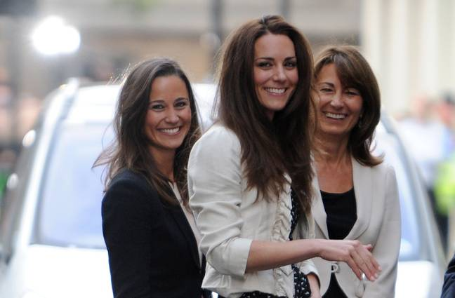 Carole Middleton and her daughters Kate and Pippa (Credit: PA)