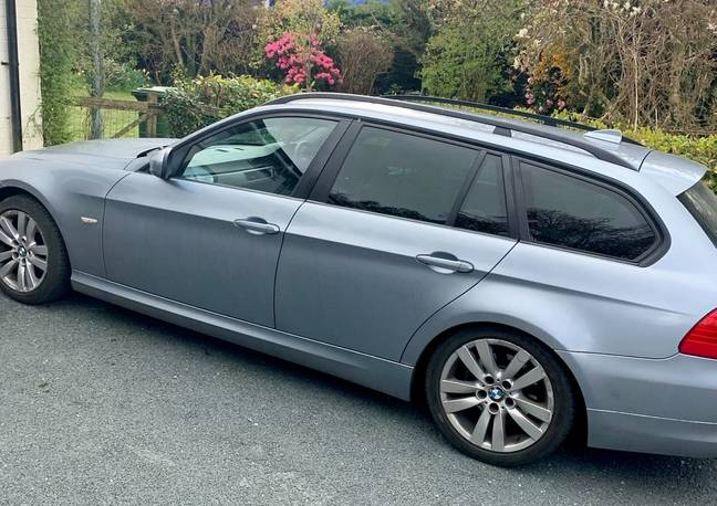 Sienna was born in this BMW 3-Series (Credit: SWNS)